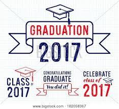 congratulations to graduate congratulations graduate 2017 set vector photo bigstock