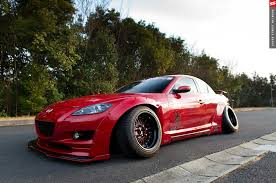 mazda rx8 modified red. mazda rx8 tra kyoto 180sx rocket bunny type ii fenders modified red 8