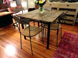 round wood pub table reclaimed bistro rustic counter height industrial style tabl