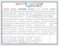 monthly meal planner template the house on hillbrook clean eating menu planning and magnet prep