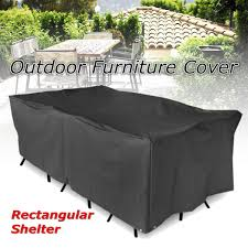 cover for patio furniture. Waterproof Polyester Furniture Cover Table Cloth Canopy Black Garden Patio Chair Rectangular Shelter Protective Cover-in Tablecloths From Home For