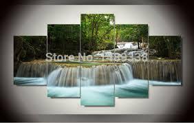 large waterfall wall art