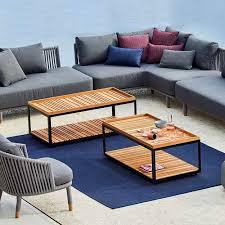 cane line level teak coffee table