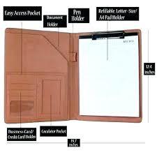 Staples Presentation Folders Leather Resume Portfolio Professional