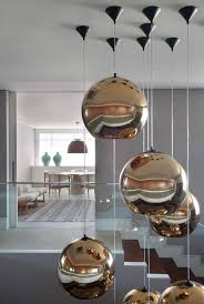 contemporary dining room pendant lighting. Unique Bowl Shaped Pendant Lamp For Modern Dining Room Decor Ideas With Grey Interior Color Contemporary Lighting