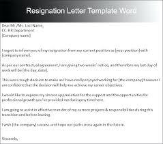 Resign Letter Format In Word Resignation Letter Template Word Format Formal Skincense Co