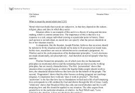 moral relativism and situation ethics a level religious studies  document image preview