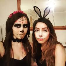 black eye with bunny makeup