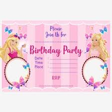 Awesome Barbie Birthday Invitation Templates Free Pictures