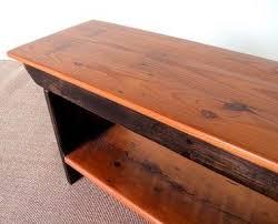 bench with shelf. Custom Made Barn Wood Plank Bench With Shelf