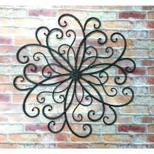 exterior wall art metal outdoor metal wall art metal wall hanging bohemian decor faux wrought iron