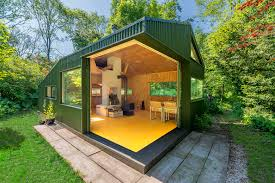 Off The Grid Prefab Homes Thoreaus Cabin A Small Off Grid Retreat Set In A Woodland Park