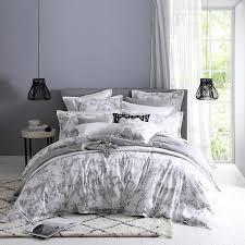 tropical fl linen quilt cover set
