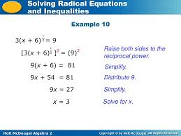 raise both sides to the reciprocal power 3 x 6