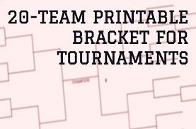 20 Team Bracket Single Elimination For Football