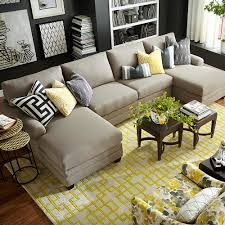 cu upholstered double chairse sectional