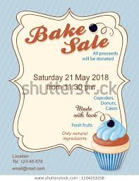 Bake Sale Flyer Templates Free Colorful Flyer Template Bake Sale Promotion Stock Vector