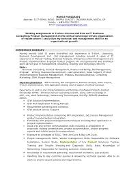 Manoj Resume Business Consulting Consulting Resume Format Experience  Summary ...