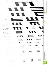 Glasses On Vision Test Chart Stock Image Image Of Optical