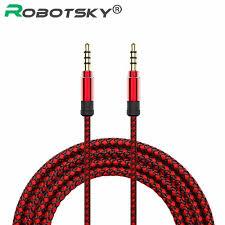 Robotsky <b>1.5M Jack</b> 3.5mm <b>Audio</b> Cable <b>Nylon</b> Braid 3.5mm Car ...