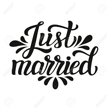 Just Married Quotes Just Married Hand Lettering Typography Text Romantic Quote 17