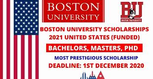 boston university scholarships 2021