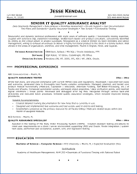 Quality Assurance Resume Objective Sample 60 Sample Resume Quality Assurance SampleResumeFormats60 48