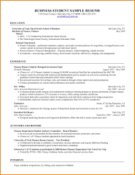 Related For 6+ business student resume template