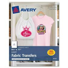 Avery Fabric Transfer Light 6pc Walmart Com