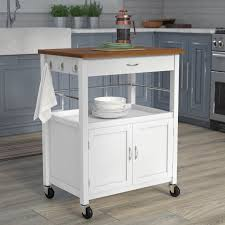 kibler kitchen island cart with natural butcher block bamboo top butcher block kitchen cart t63