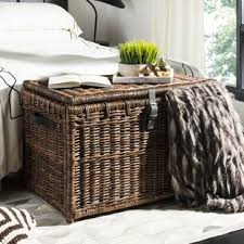 large wicker storage trunk.  Trunk Quickview With Large Wicker Storage Trunk T