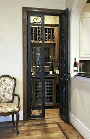 wine cellar doors door grill and hardware contemporary images