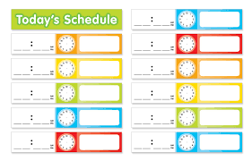 Buy Scholastic Teachers Friend Schedule Cards Pocket Chart
