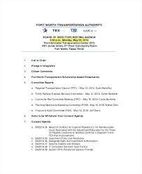 Board Meeting Agenda Templates Free Sample Example Format An For A ...