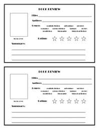 Book Analysis Template 12 Best Book Review Template Images School Reading 1st Grades