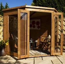 Small Picture Corner Summer House garden sheds Garden pods Pinterest