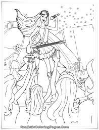 Barbie Princess Popstar Coloring Page