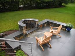 patio designs fire pit chair seating