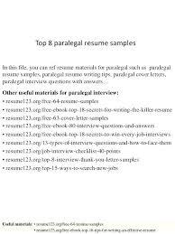 Sample Paralegal Resume U2013 Davidkarlssonparalegal Resume Sample