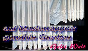 Stores Gardine auf Musterrapport selber nähen DIY - YouTube
