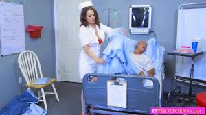 Sexy nurse Kissa Sins with huge boobs gets fucked the doctor on.