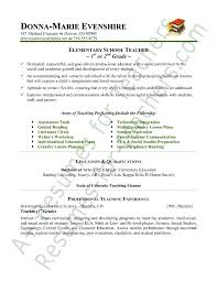 Teacher Resume Template New Elementary Education Resume Examples