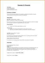 Cv Personal Profile Examples Resume Profile Template Profile Template Cv Personal Profile
