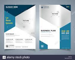 Modern Blue Brochure Of Hexagon Template Design Background