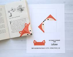 cute folded bookmarks seven diffe woodland origami bookmark templates just print cut
