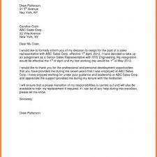 Sample Format Of Resignation Letter Without Notice Period New Letter