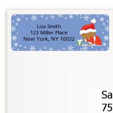 Christmas Baby Snowflakes African American Baby Shower Return Address Labels