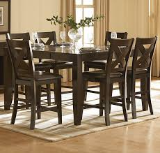 counter height dining table set. Homelegance Crown Point 7 Piece Counter Height Dining Room Set Table