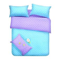 purple polka dot bedding blue dots sets full double queen size quilt duvet cover bed sheet