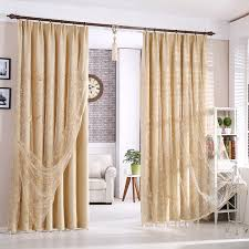 solid dark beige polyester thick blackout thermal insulated curtains no sheer pieces